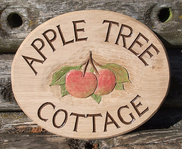 rustic wood house signs - bespoke signs