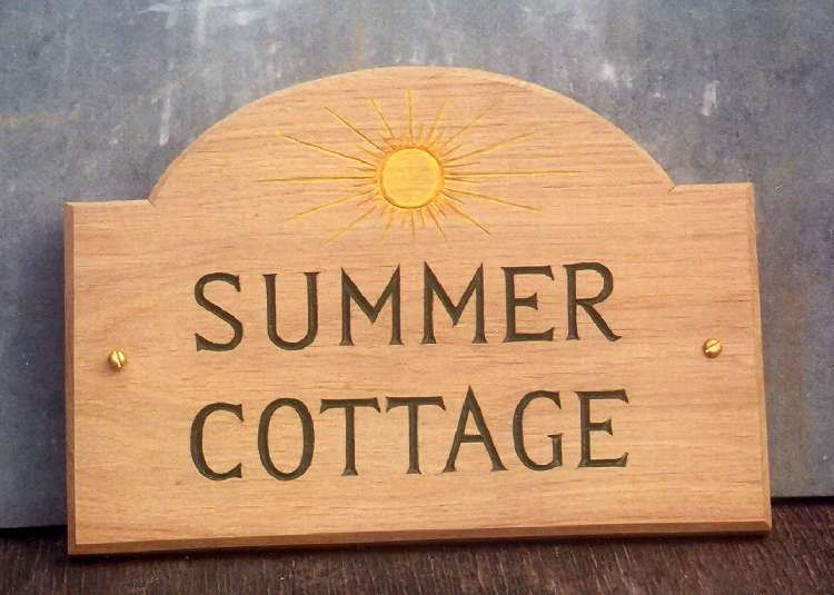 Summer Cottage Handmade Wooden Sign