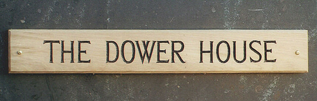 The Dower House Handmade Sign