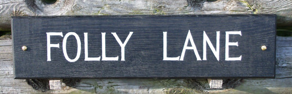Folly Lane Handmade Wooden Sign