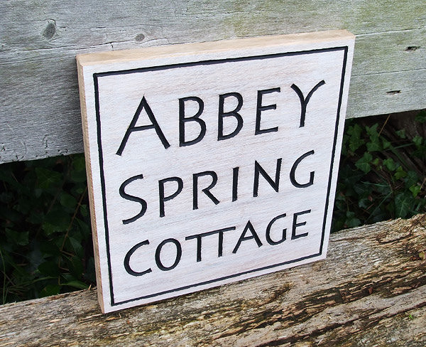 Abbey Spring Cottage Handmade Wooden Sign