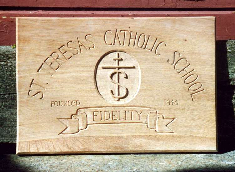St Teresas Handmade Wooden Sign