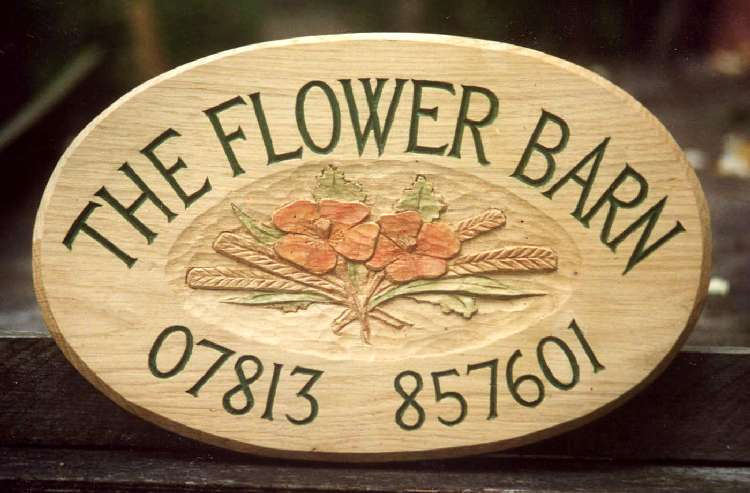 Flower barn Handmade Wooden Sign