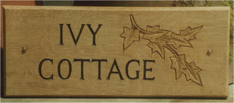 Ivy Cottage Handmade Wooden Sign