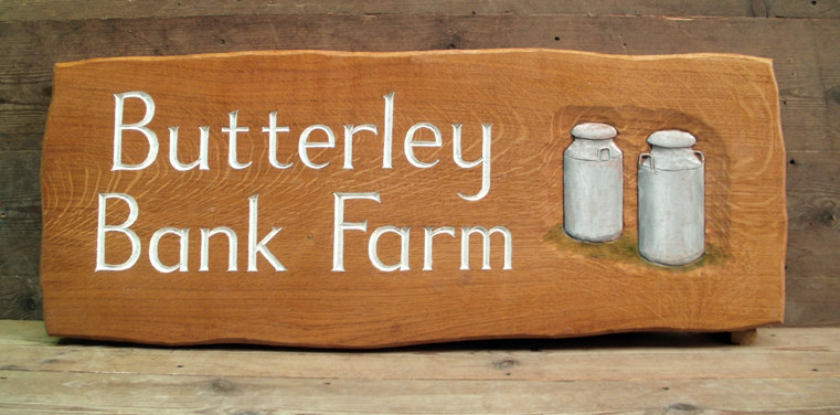 Butterfly Bank Farm Handmade Wooden Sign