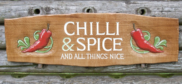 Chili and Spice Handmade Wooden Sign