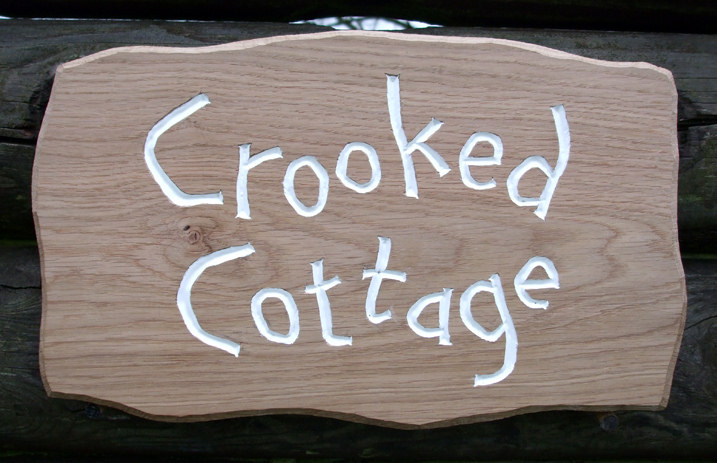 Crooked Cottage Handmade Wooden Sign
