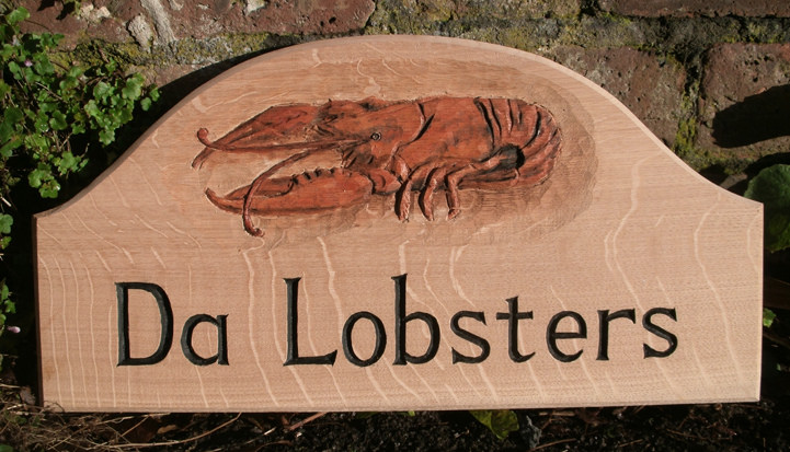 Da Lobsters Handmade Wooden Sign
