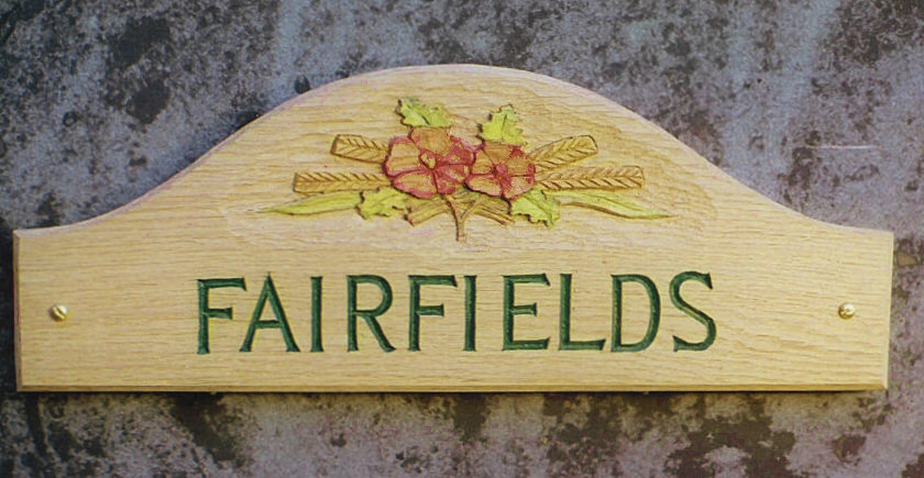 Fairfields Handmade Wooden Sign