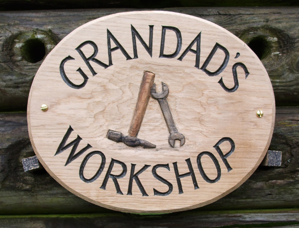 Grandads Handmade Wooden Sign