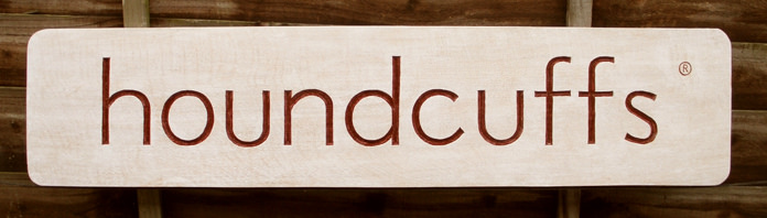 Houndcuffs Handmade Wooden Sign