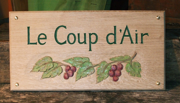 Le Coup D'air Handmade Wooden Sign