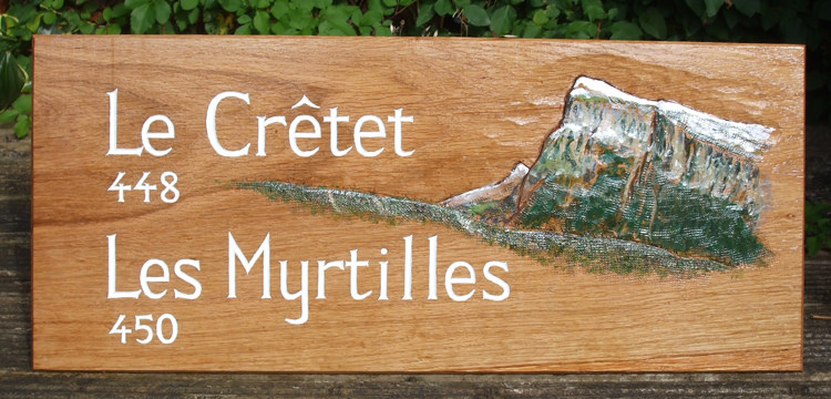 Le Cretet Handmade Wooden Sign