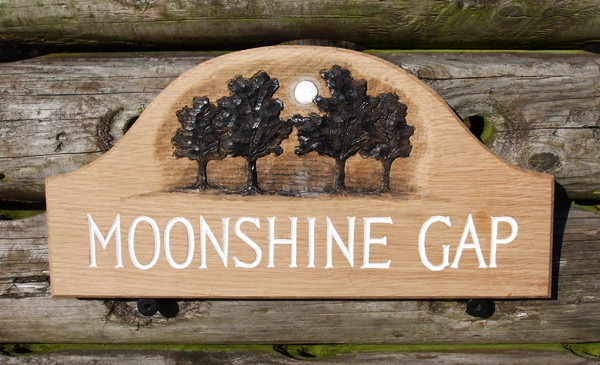 Moonshine Gap Handmade Wooden Sign