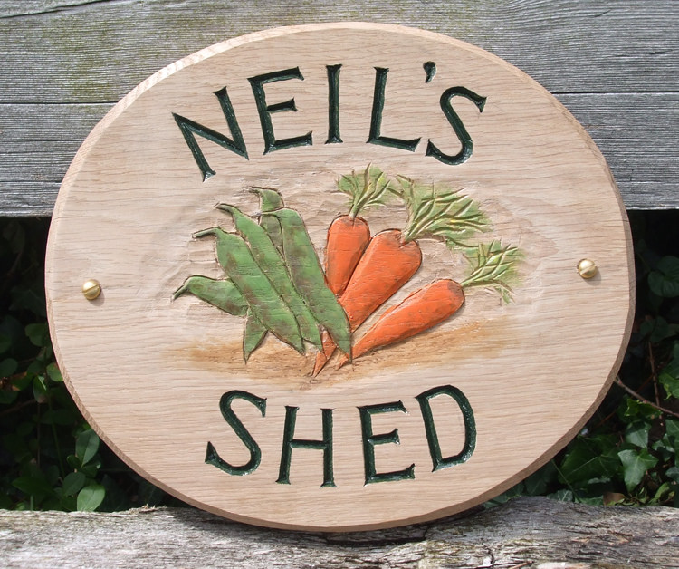 Neils Shed Handmade Wooden Sign