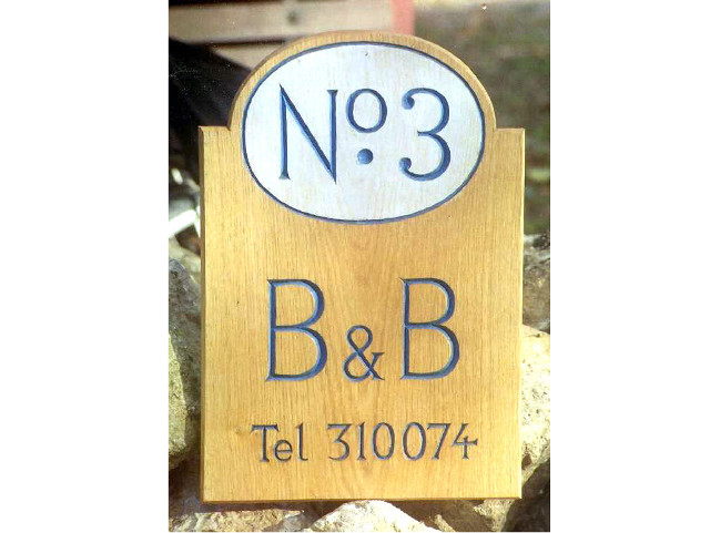 Number Three Handmade Sign