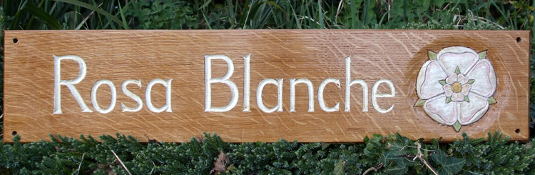 Rosa Blanche Handmade Wooden Sign