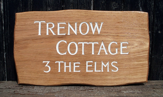 Trenow Cottage Handmade Wooden Sign