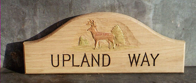 Upland Way Handmade Wooden Sign