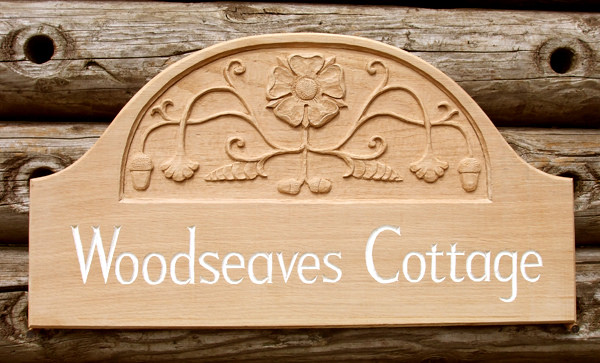 Woodseaves Cottage Handmade Wooden Sign