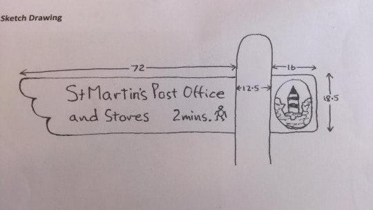St Martin's Post Office Wooden Business Sign