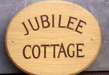 Woodcott Wooden Signs Jubilee House sign without motif