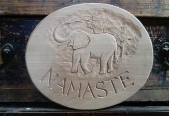 Wooden house sign - Namaste