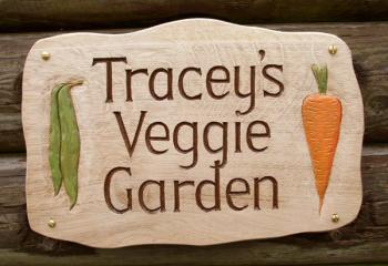personalised wooden signs for garden