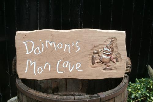 Funny wooden sign