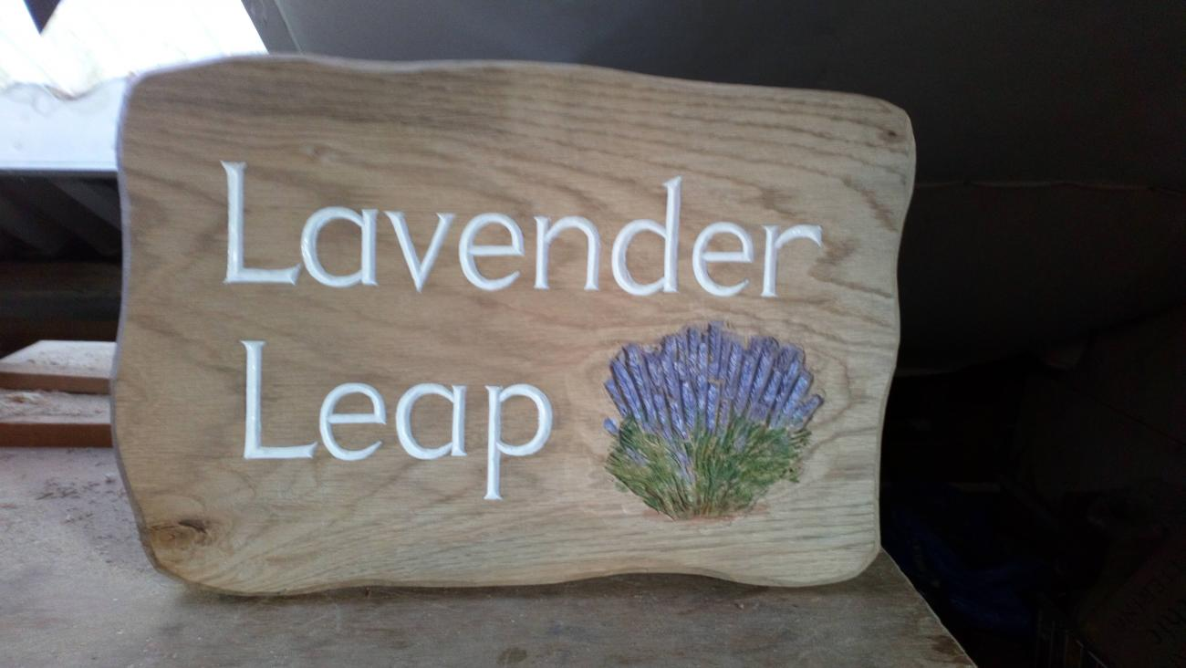 Wooden sign - Lavender leap