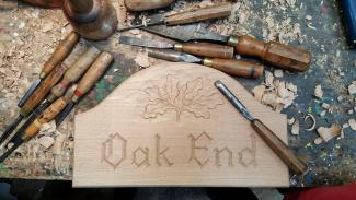 wooden plaques hand carved