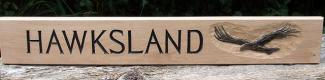 Hawksland Handmade Wooden Sign