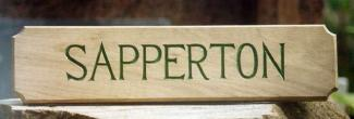 Sapperton Handmade Wooden Sign
