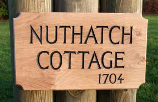 Nuthatch Handmade Wooden Sign