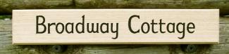 Broadway Cottage Handmade Wooden Sign