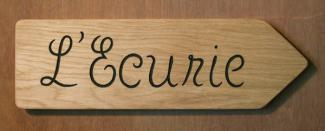 L'Ecurie Handmade Wooden Sign