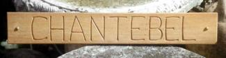 Chantarel Handmade Wooden Sign