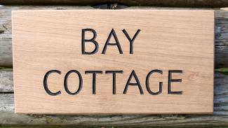 Bay Cottage Handmade Wooden Sign