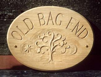 Old Bag End Handmade Wooden Sign