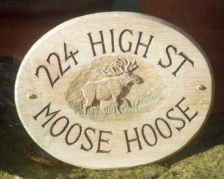 Moose House Handmade Wooden Sign