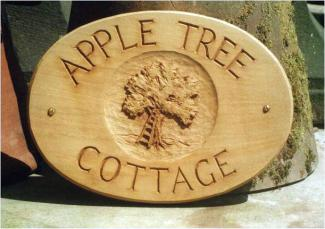 Apple Tree  Handmade Wooden Sign