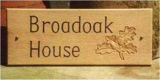 Broadoak House Handmade Wooden Sign