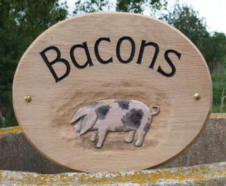 Bacons Handmade Wooden Sign