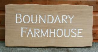 Boundary Farmhouse rustic sign