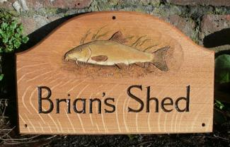 Brians Shed Handmade Wooden Sign