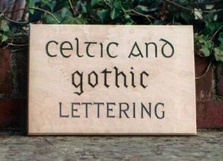 Celtic and Gothic Handmade Wooden Sign