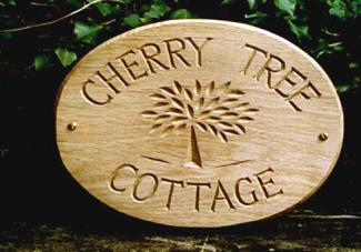 Cherry Tree Handmade Wooden Sign