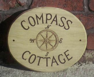 Compass Handmade Wooden Sign