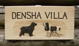Densha Handmade Wooden Sign