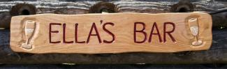 Ellas Bar Handmade Wooden Sign